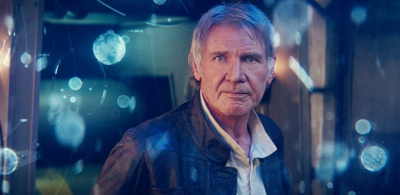 Harrison Ford as Han Solo in Disney's Star Wars: The Force Awakens