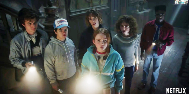 The cast of Stranger Things in a brand new sneak peak from season four