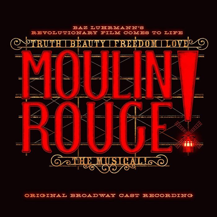 Key art for the Moulin Rouge Original Broadway Cast Recording soundtrack.