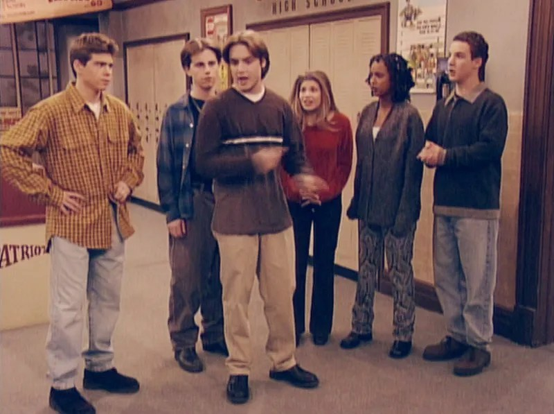 """Still from Boy Meets World's """"And Then There Was Shawn"""" season five, episode 17."""