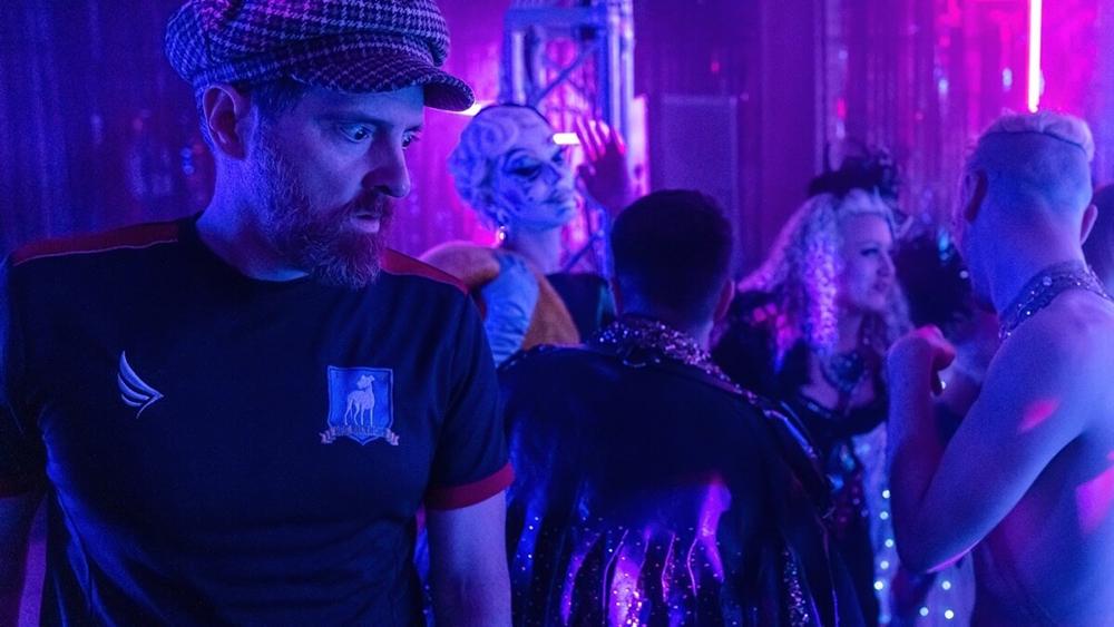 """Brendan Hunt as Coach Beard in Ted Lasso, episode nine, """"Beard After Hours"""""""