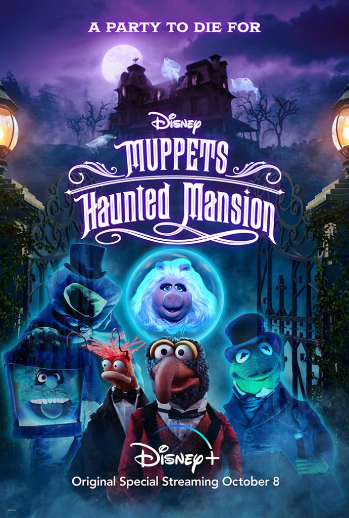 Key art for Muppets Haunted Mansion available exclusively on Disney+.