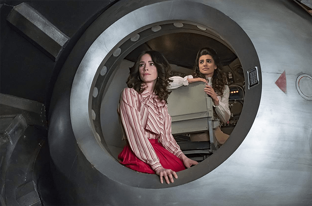 """Lucy Preston and Jiya Marri in Timeless """"The Day Reagan Was Shot"""""""