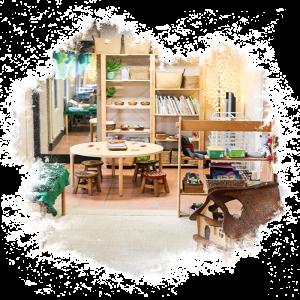 indoor classroom at preschool