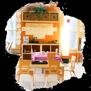 photo of indoor kindergarten classroom