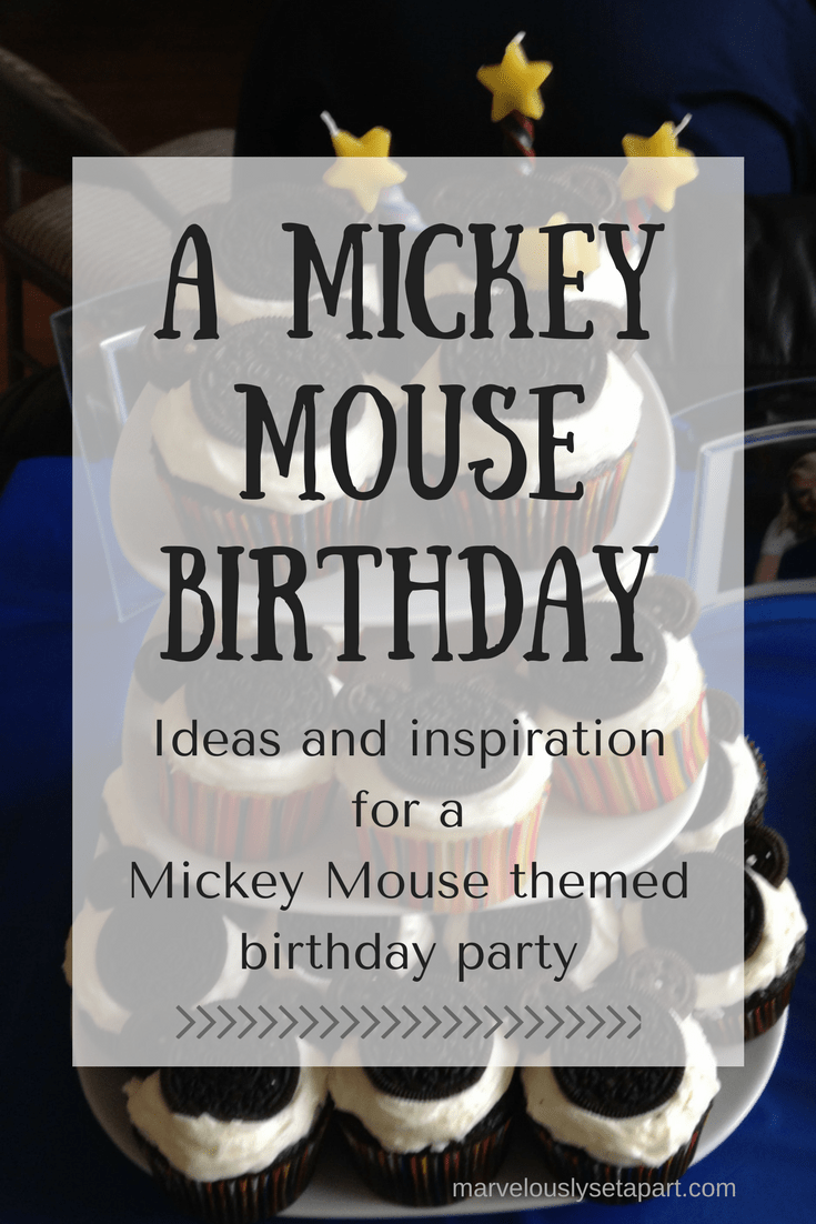 A Mickey Mouse birthday party