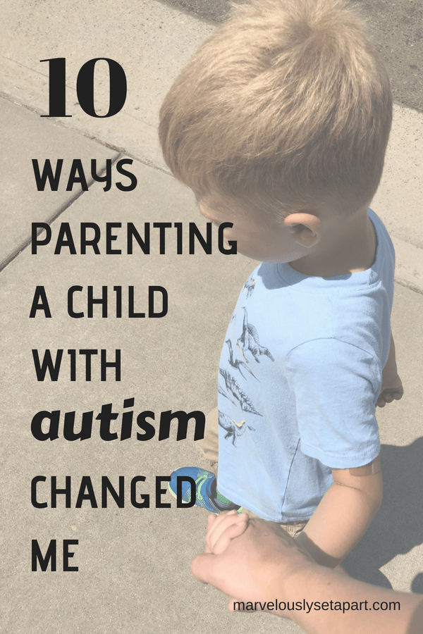 parenting a child with autism, change