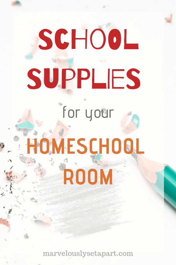 autism homeschool supply list