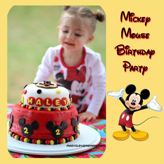 Superb Haleys 2Nd Birthday Mickey Mouse Birthday Party Ideas Personalised Birthday Cards Vishlily Jamesorg