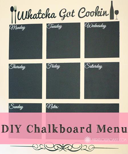 DIY Chalkboard Menu Tutorial