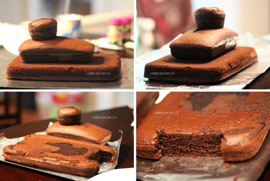 camo tank birthday cake