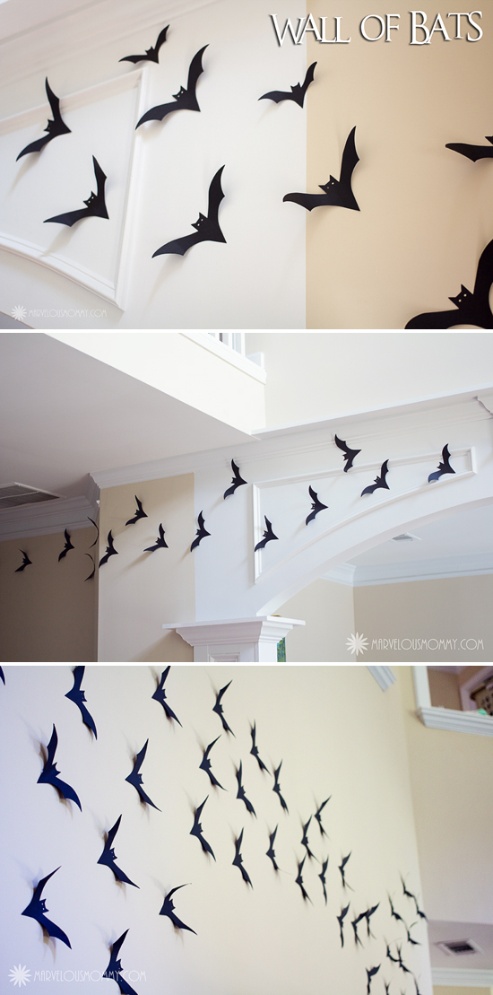 Easy diy halloween decor wall of bats marvelous mommy wall of batscollage solutioingenieria Images