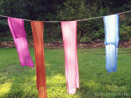 newborn cheesecloth dye