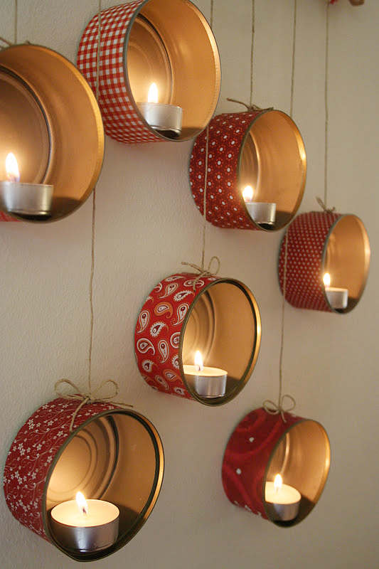 hanging tin can lanterns