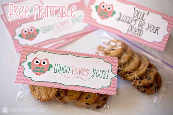 Owl Valentines Tag Free Printables