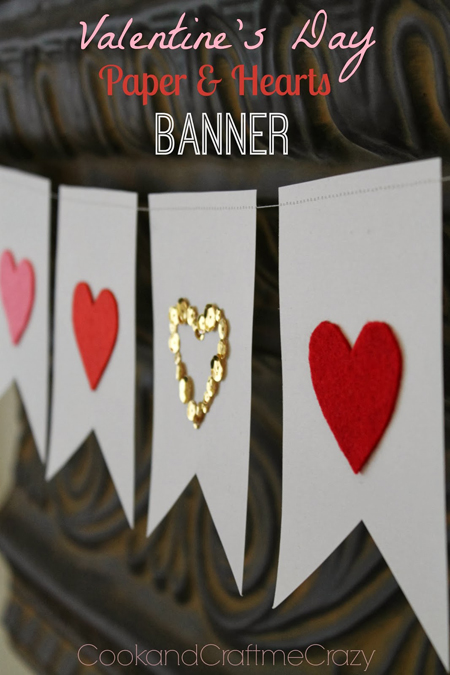 Valentine's Day Paper and Hearts Banner