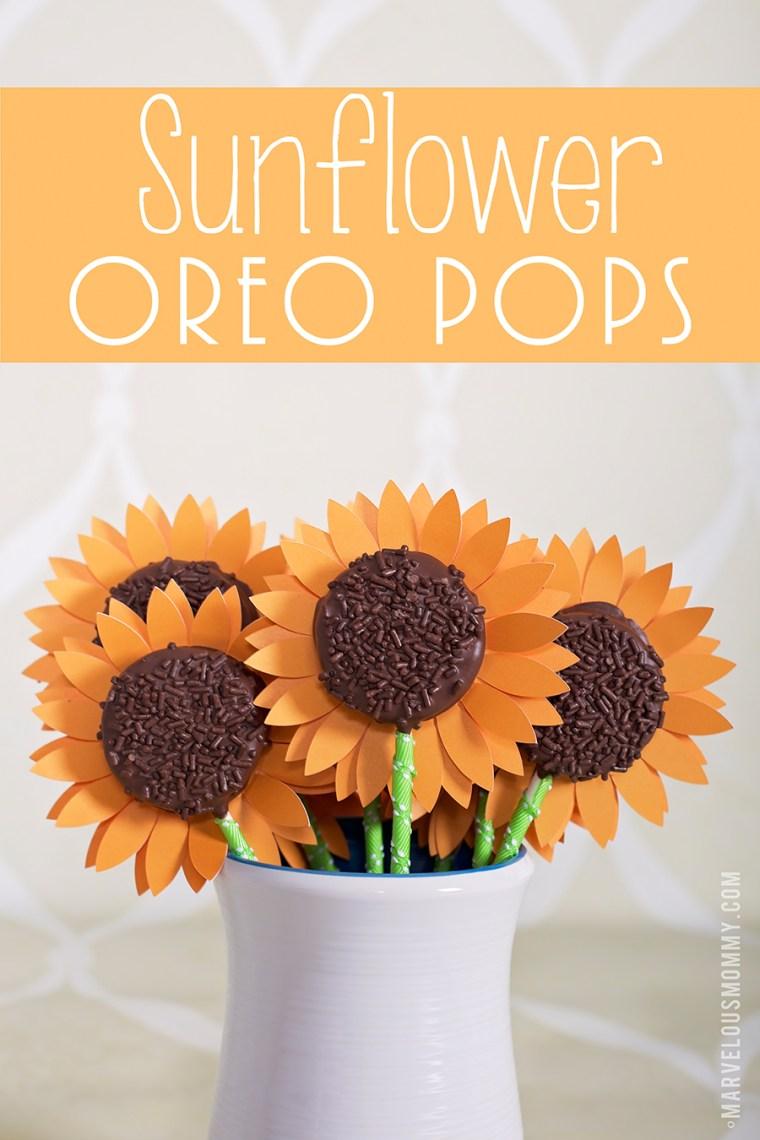 Sunflower Oreo Pops