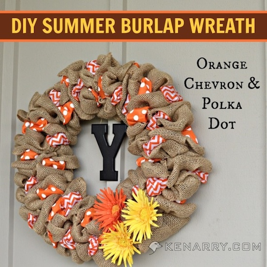 diy summer burlap wreath