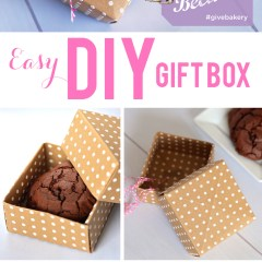 DIY COOKIE BOX made with scrapbook paper