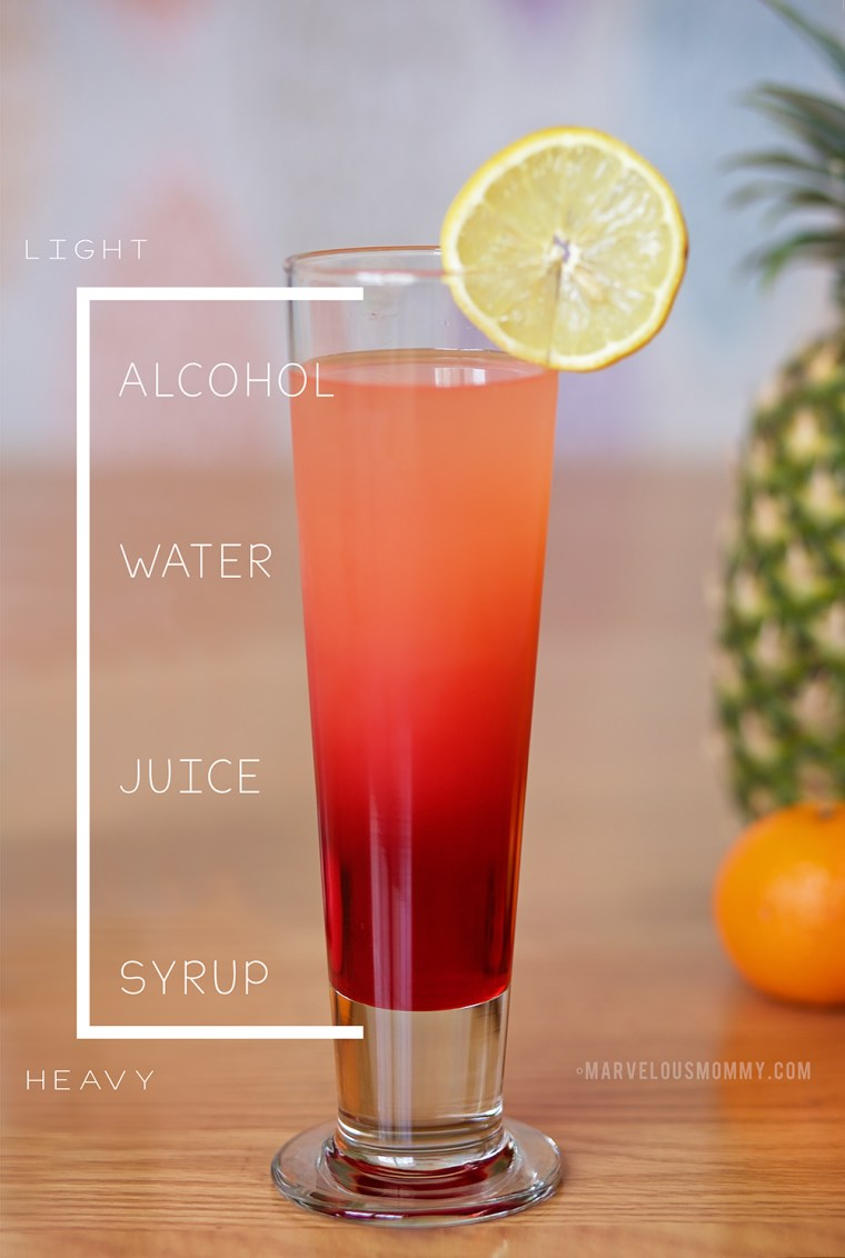 Tropical Sunrise Layered Cocktail HOW TO
