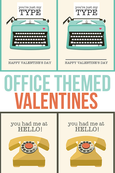 Darling office valentines for co-workers, interns and friends! livelaughrowe.com