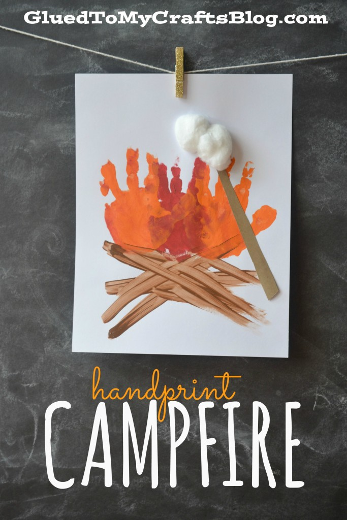 handprint campfire kid craft