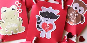 Printable Animal Valentine