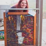 Kory Dollar Multnomah Falls, Oregon Glass on Glass Mosaic