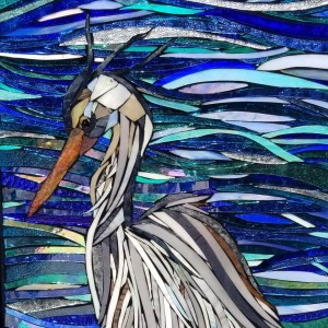 mosaic, heron, stained glass, kory dollar, marvelous mosaic