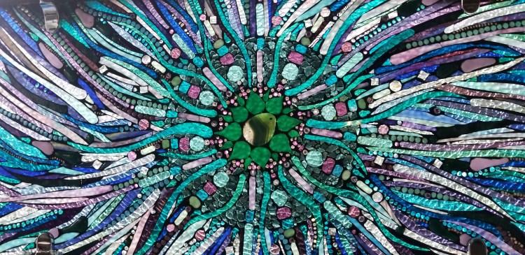 Mandala Mosaic Glass on Glass by Kory Dollar