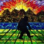 Bigfoot Mosaic by Kory Dollar of Marvelous Mosaic Fine Art