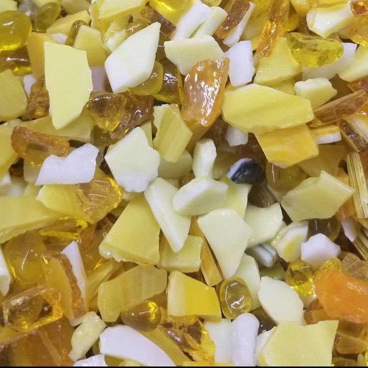 Yellow Blossom Blend by Kory Dollar of Marvelous Mosaic Fine Art