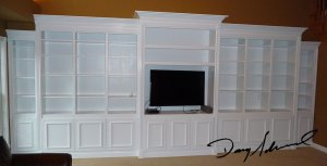 Custom Wall Bookcases by Doug Marvel, Marvelous Woodworking