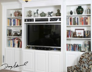 custom built in cabinets | Placing a TV