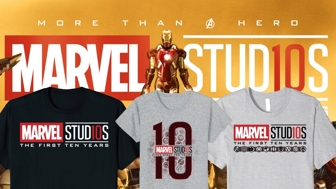 brand new marvel studios the first ten years anniversary apparel