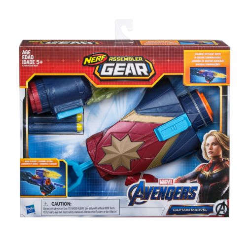 MARVEL AVENGERS ENDGAME NERF CAPTAIN MARVEL ASSEMBLER GEAR UPGRADE in pck