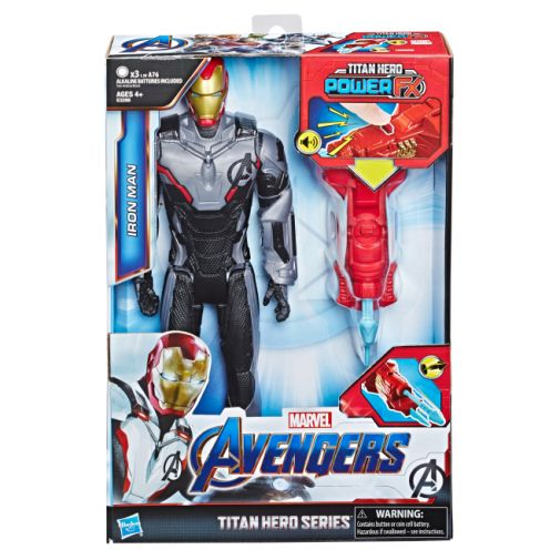 MARVEL AVENGERS ENDGAME TITAN HERO POWER FX IRON MAN in pck
