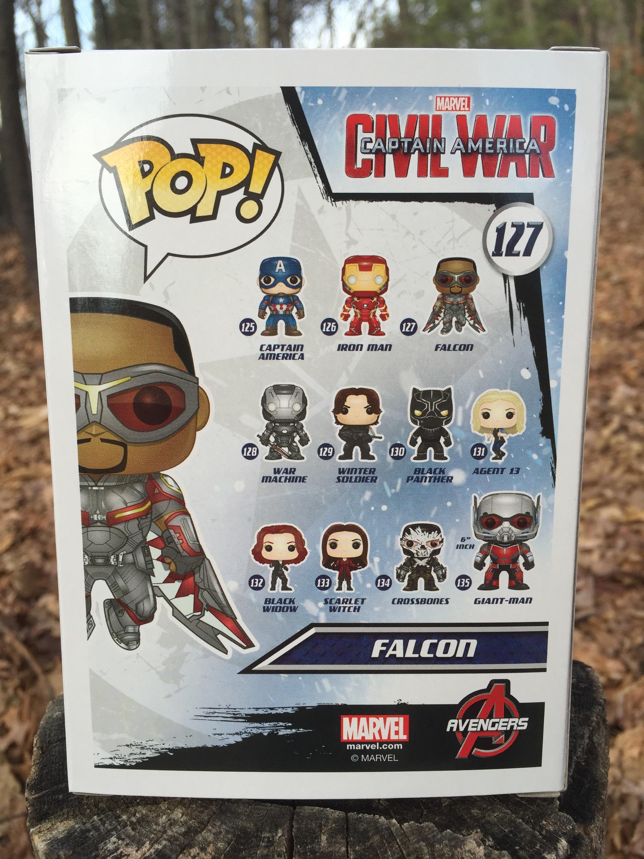 Funko Civil War Falcon POP Vinyl Review  Photos  Marvel