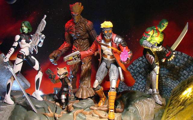 Exclusive Marvel Select Guardians of the Galaxy Figures Whole Team