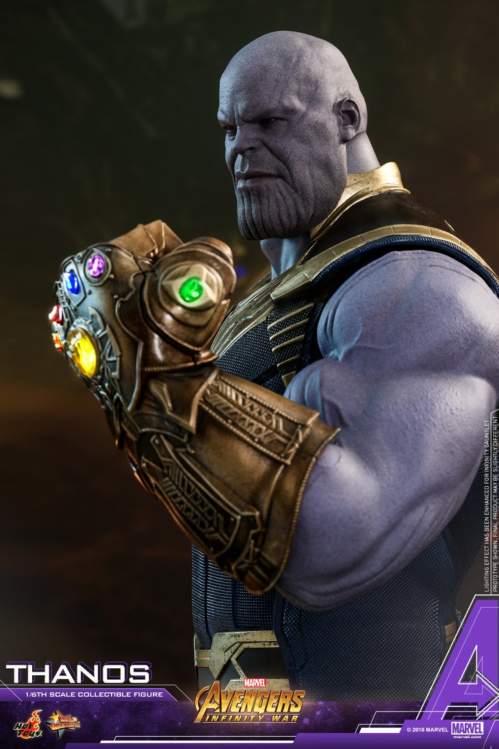 Thanos is seen as a god to some in the marvel universe after the mad titan snapped away half of existence with the infinity gaunlet. Infinity War Hot Toys Thanos With Infinity Gauntlet Up For Order Marvel Toy News