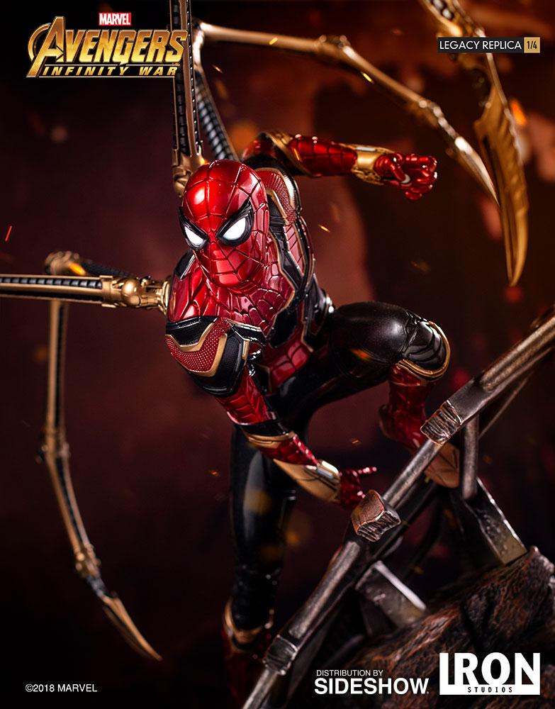 Iron Studios Infinity War Thanos  Iron Spider 14 Statues