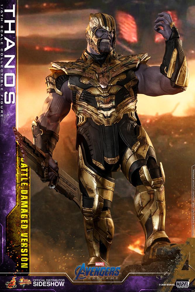 Hot Toys Battle Damaged Thanos Figure & Nano Gauntlet Up for Order! - Marvel Toy News