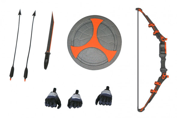 Marvel Select Taskmaster Accessories Bow Sword Shield Arrows