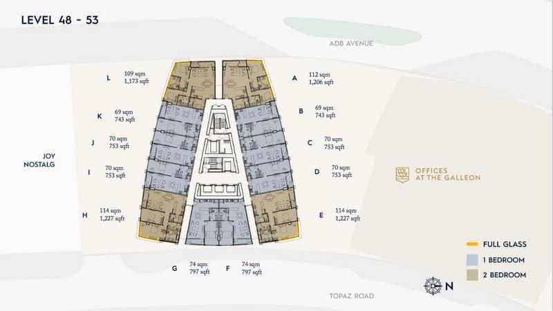 LEVEL 48-53 Floor Plan Office