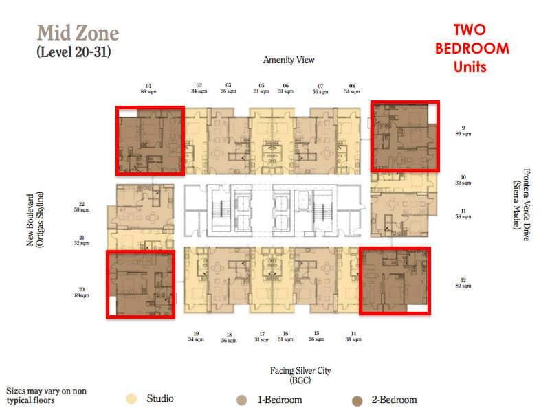 Maple 2BR Mid zone