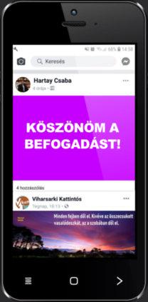 Hartay Csaba: Köszönöm a befogadást