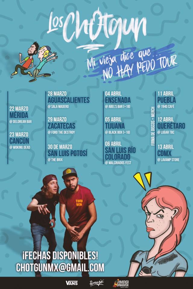Mira las fechas del tour de Los Chotgun.