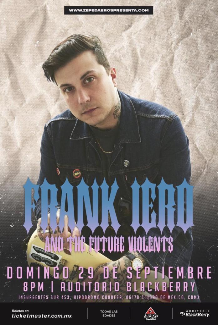 Frank Iero the Future Violents nuevas fechas Auditorio Blackberry 29 septiembre