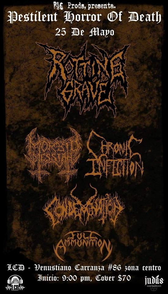 Rotting Grave 25 de mayo concierto
