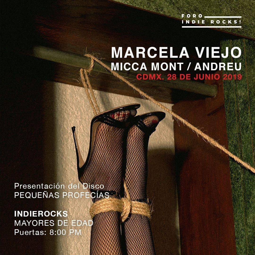 Marcela Viejo Foro Indie Rocks! Micca Mont Andreu Band boletos conciertos CDMX
